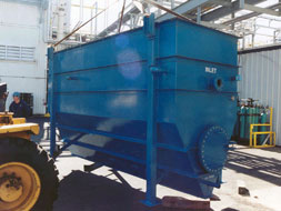 steep hopper bottom oil water separator