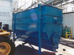 steep hopper bottom oil water separator