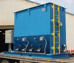 painted carbon steel oil water separator