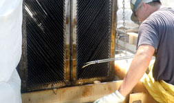 cleaning oil water separator