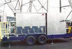 Mobile oily water separators